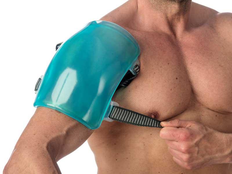 Aplicación de frío en lesión de hombro