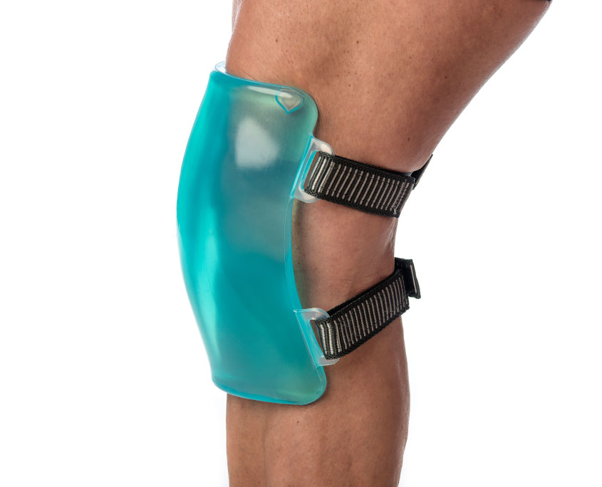 Terapia de frío en rodilla