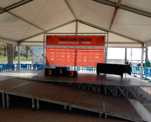 Triatlon Cross Santa Pola Triwhite Podium